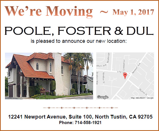 Poole, Foster & Dul Address